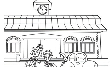 Раскраска Нолик и Симка на вокзале