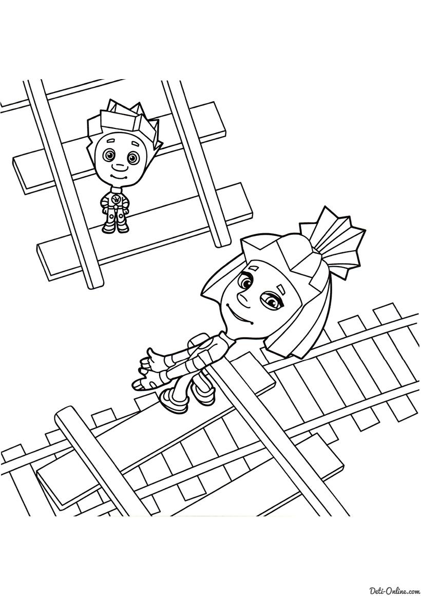 Нолик и Симка на рельсах