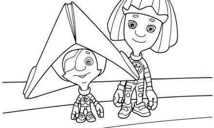 Раскраска Симка и Нолик пираты