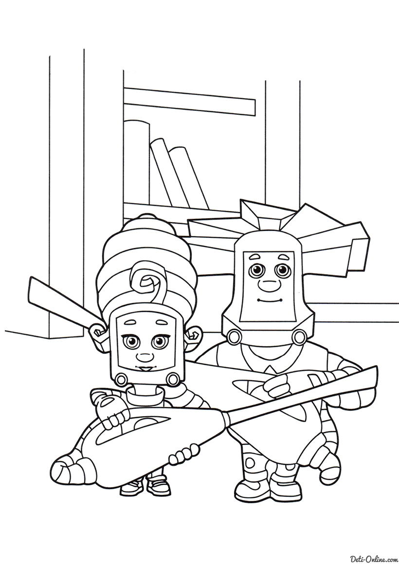 Папус и Мася с пылесосами