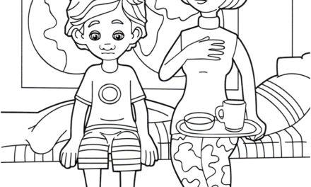 Раскраска ДимДимыч и мама