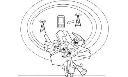 Раскраска Дедус и схема сотового телефона