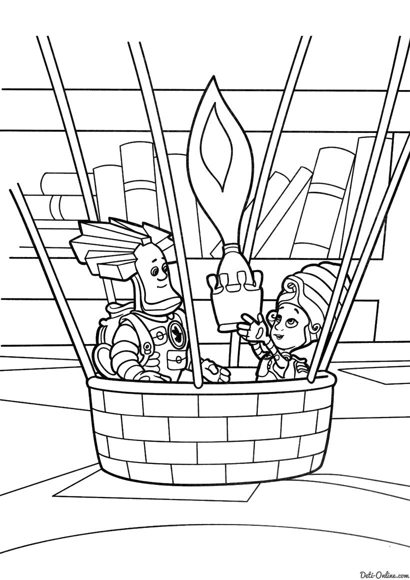 Папус и Мася на воздушном шаре
