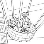 Симка и Нолик на воздушном шаре